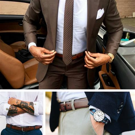 tips  choosing  wearing men belt men fashion hub