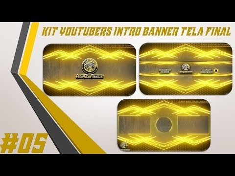 Kit Youtuber #05 Intro Banner Tela Final Para Youtubers