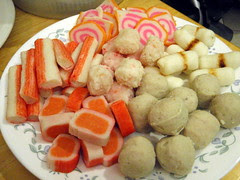 Fish cakes, fish balls, and crab balls