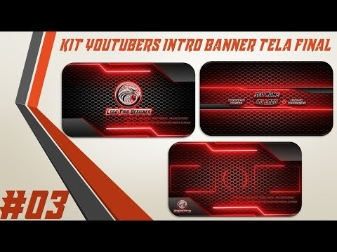 Kit Youtuber #03 Intro Banner Tela Final Para Youtubers
