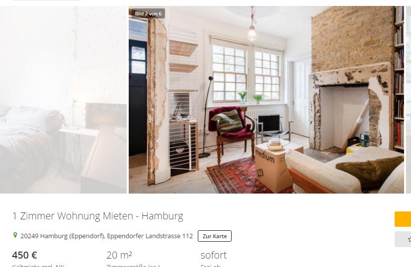 mathias 8burger 1 zimmer wohnung mieten hamburg 20249. Black Bedroom Furniture Sets. Home Design Ideas