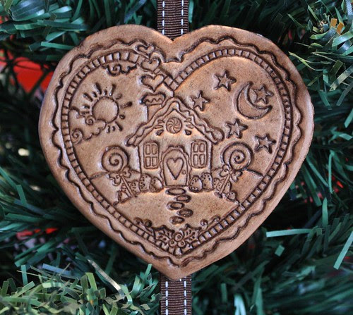 Gingerbread Heart Ornament