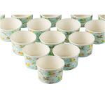 Froyo Cups - 50-Piece Disposable Paper Dessert Ice Cream Sundae Yogurt Bowls Party Supplies, Rainbow Unicorn, 8-Ounce