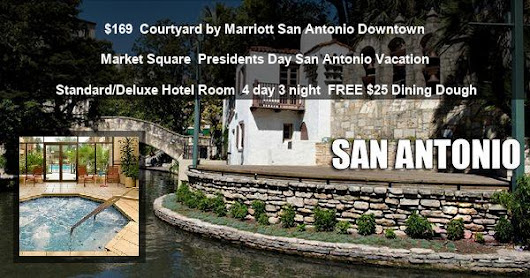 Presidents Day San Antonio Vacation at Courtyard by Marriott San Antonio Downtown Market Square from $169 Deal 82245