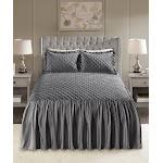Madison Park Roxanne 3-pc. Queen Faux Velvet Bedspread Set - Grey