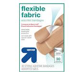 Up & Up Bandages, Antibacterial, Flexible Fabric - 30 bandages