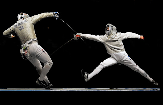 As a workout, fencing gets right to the point