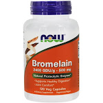 NOW Foods Bromelain 2400 GDU/g 500 mg. 120 Vegetarian Capsules