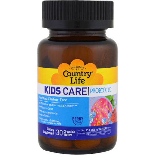 Country Life - Kids Care Probiotic - 30 Chewable Wafers