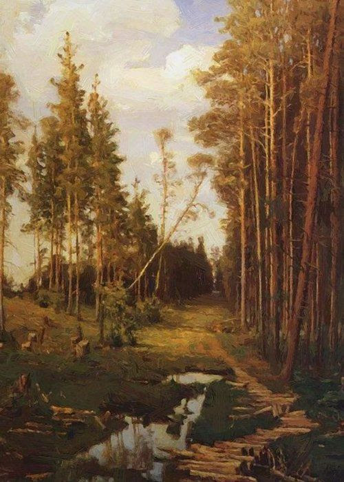 Glade In A Pine Forest 1883 By Savrasov Aleksey, Oil Painting