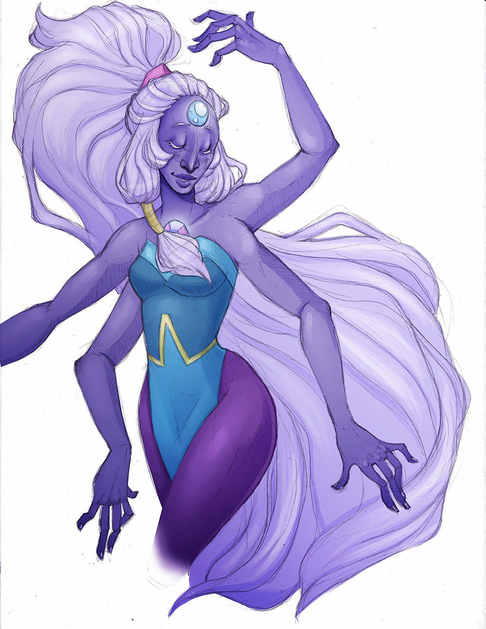 Been a while since I've uploaded anything, I've been really busy with a super exciting project I can't talk about yet, but will share as soon as I can! Anyway, here's a quick Opal doodle because...