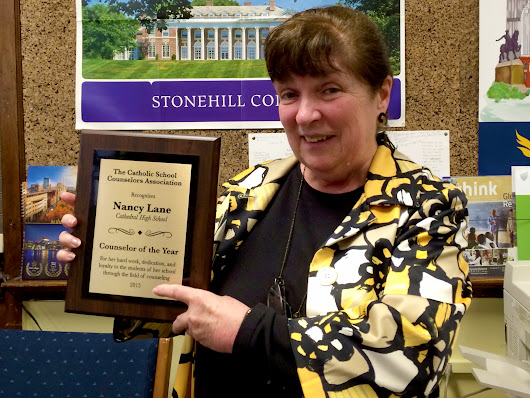 Nancy Lane Receives Counselor of Year Award - Cathedral 7-12 High School Boston