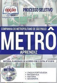 Apostila Processo Seletivo METRÔ SP 2018 | APRENDIZ