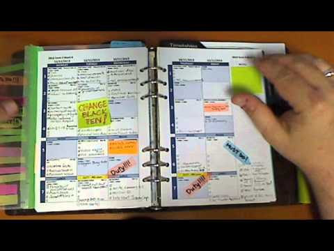 Using A Filofax As A Teacher Daily Planner - YouTube