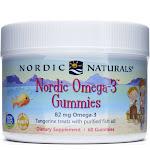 Nordic Naturals Nordic Omega-3 Gummies, Tangerine - 60 count