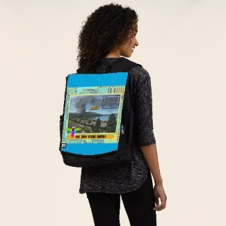 """""""Use Only Clean Energy"""" Backpack at Zazzle.com/lizardmarsh*"""