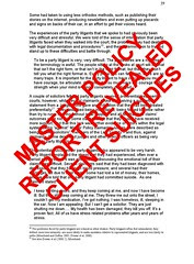 Master Policy Report Suicides revealed