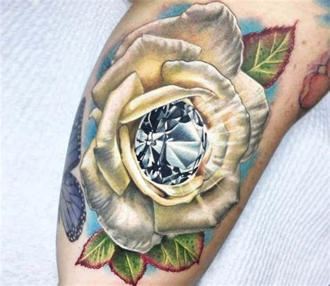 rose diamond tattoo ben kaye post