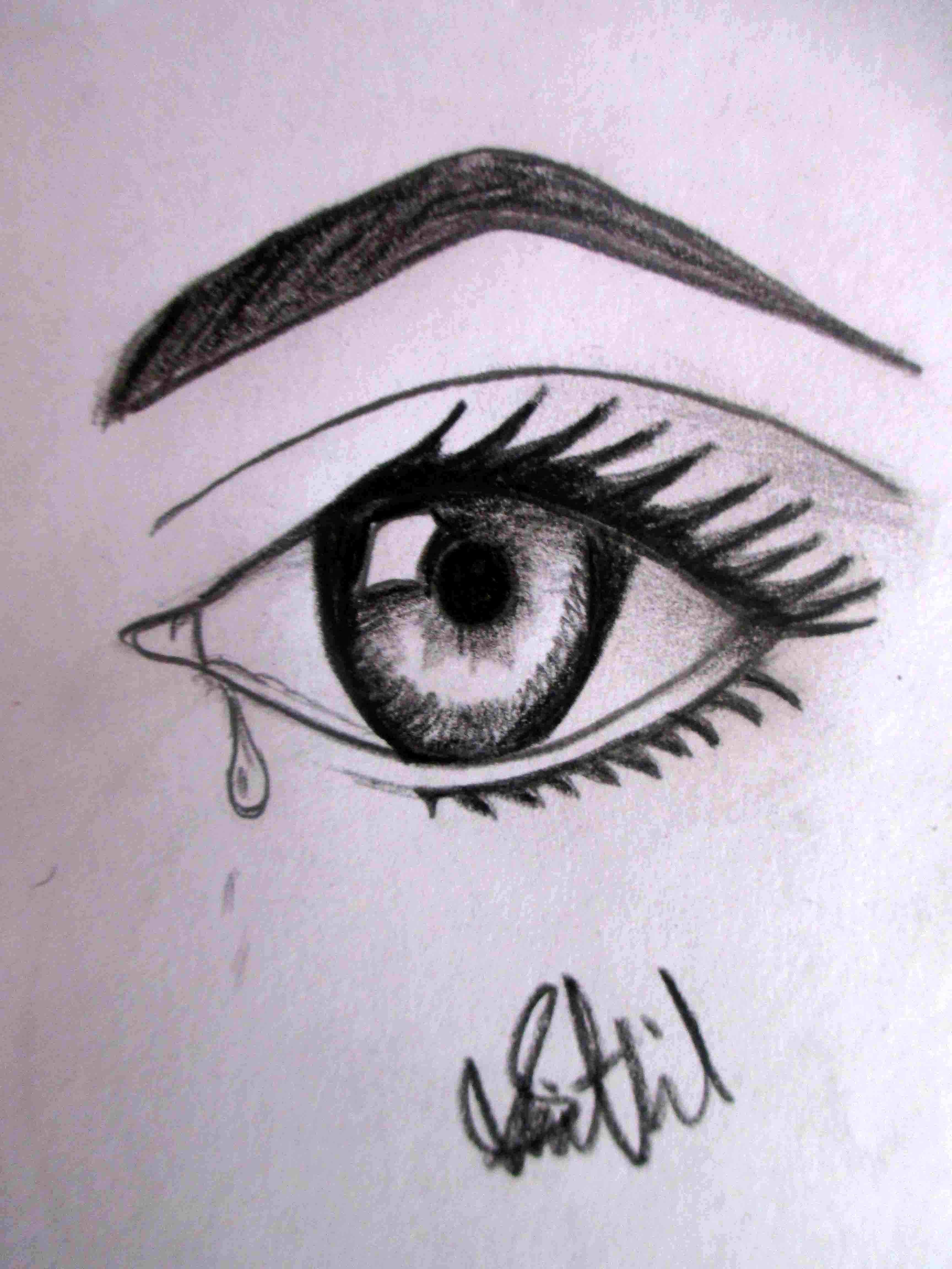 Heartbroken Cry Eye Draw : heartbroken, Orasnap:, Beginner, Drawing