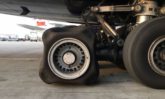 Experts baffled after British Airways A380 lands with a SQUARE tyre
