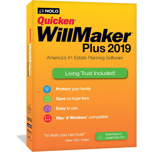 Quicken WillMaker Plus 2019 (Windows/Mac) in Retail Box - Google Express