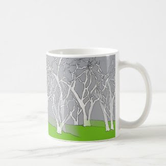 White Tree Design on Coffee/Tea Mug
