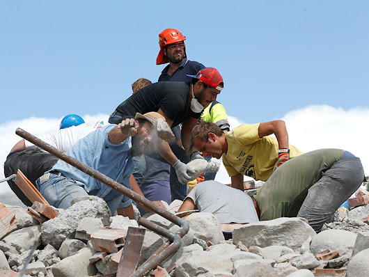 Faith-based volunteers help search for quake victims