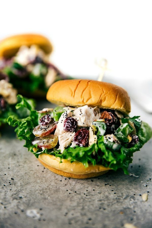 Low Calorie Chicken Salad Sandwiches - Chelsea's Messy Apron