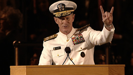 McRaven to Grads: To Change the World, Start by Making Your Bed [Watch]