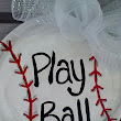 New Item- Baseball Softball Painted Door or Wall Decor Personalized Free Ready to Hang One Sided