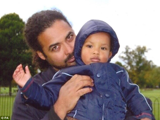 Probe: Police said that they are now also 'concerned' for the welfare of Ms Blake's boyfriend Arthur Simpson-Kent, who is pictured with his son Amon. The appeal to find him is still ongoing