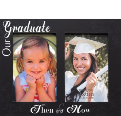 Then Now Graduation Double Photo Frame 10in X 8in Party City Canada
