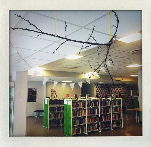 Pynt opp biblioteket med vimpler