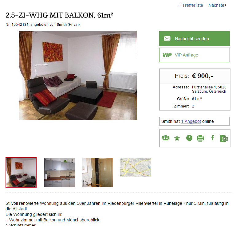2 5 zi whg mit balkon 61m. Black Bedroom Furniture Sets. Home Design Ideas