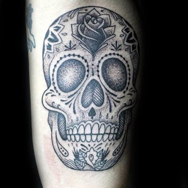 100 Sugar Skull Tattoo Designs For Men Cool Calavera Ink Ideas