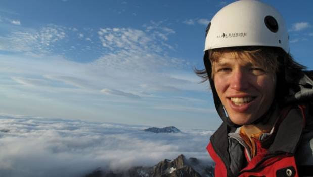 YOUNG ADVENTURER: Mark Ellis pictured at the summit of Mt Franklin in the Southern Alps.