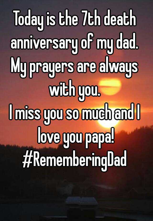 Today Is The 7th Death Anniversary Of My Dad My Prayers Are Always