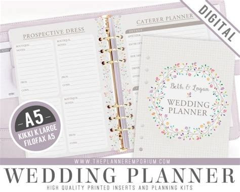 A5 Ultimate Wedding Planner Organizer Kit   Instant