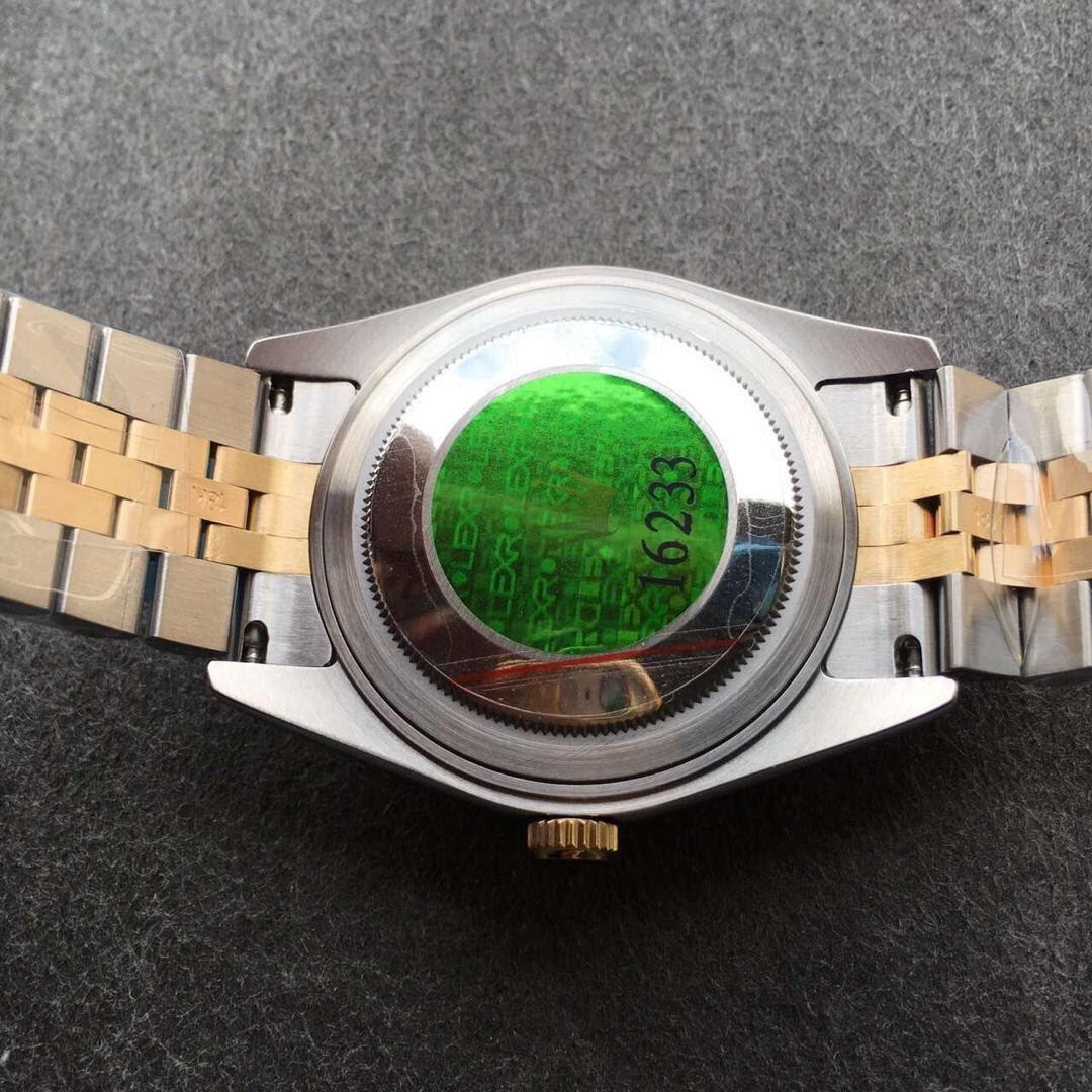 Replica Rolex Datejust Green Sticker on Back