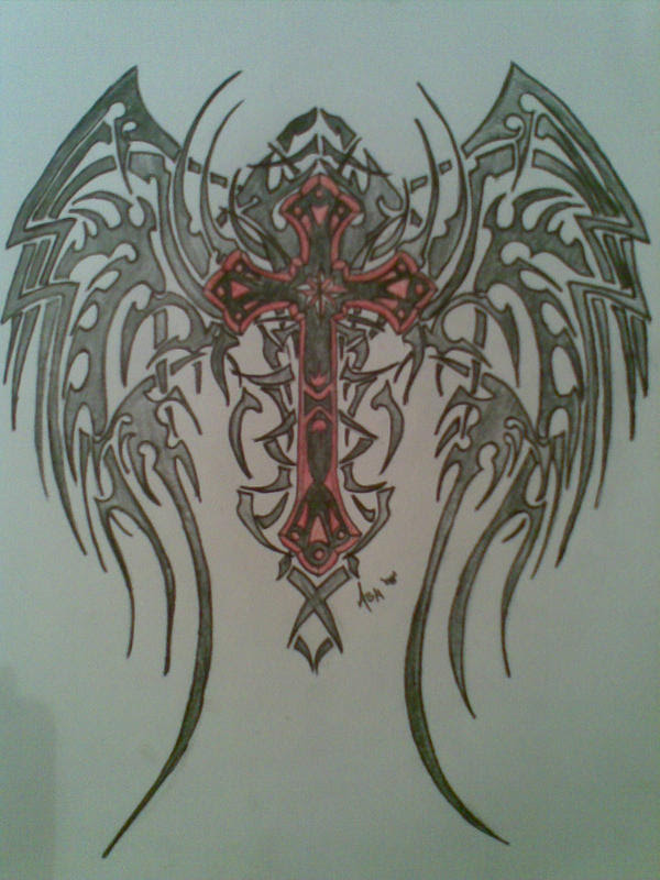 The Aesthetics Blog Tribal Wings Tattoo