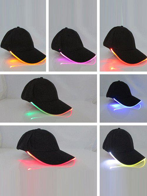 Black Club Party Adjustable Lighted Glow Led Baseball Cap | RoseGal.com
