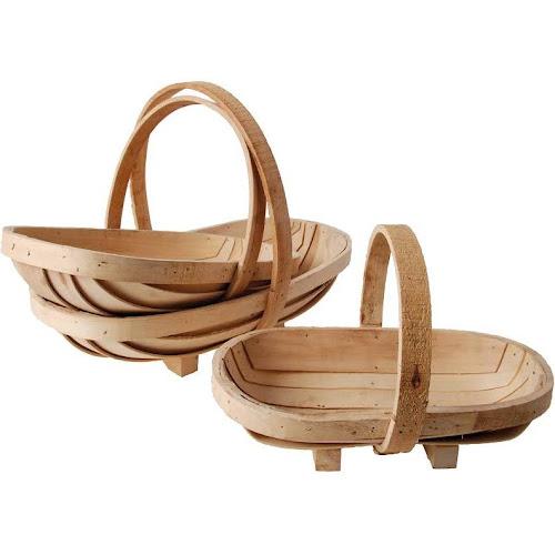 Sussex Flower Trugs - Set of 3, Wood, Baskets, by Esschert Design