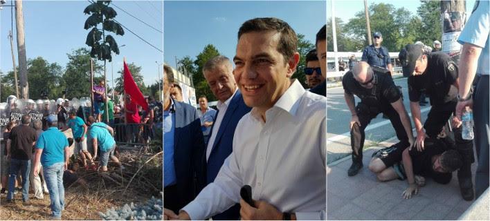 Κοζάνη: Επεισόδια μεταξύ συνδικαλιστών και ΜΑΤ πριν από την ομιλία Τσίπρα [εικόνες & βίντεο]