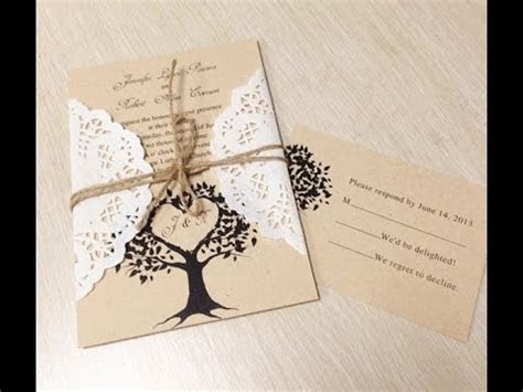 Unique diy wedding invitation ideas   YouTube
