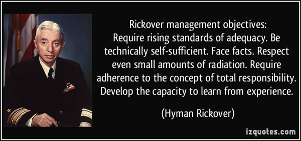 Rickover Quote Taproot Root Cause Analysis