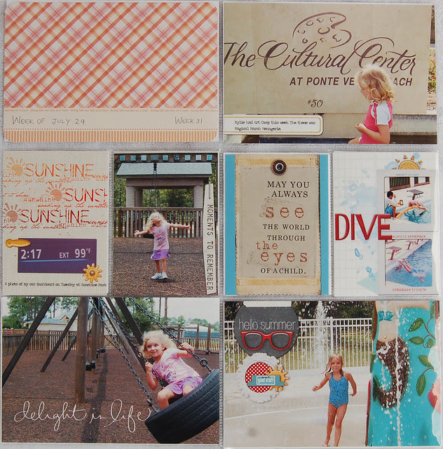 Project Life Week 31 page 1