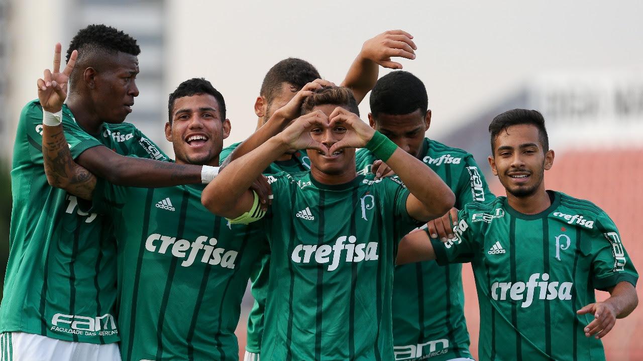 Fabio Menotti/Ag Palmeiras/Divulgação_Os gols da vitória palmeirense foram marcados por Yan, Papagaio, Airton e Fernando