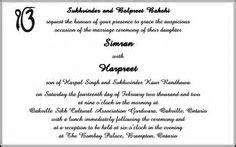 Sikh Wedding Card Wording, Marriage Invitation Wordings