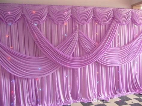 Luxury 3x6m Pink Color Fabric Wedding Backdrop Curtains