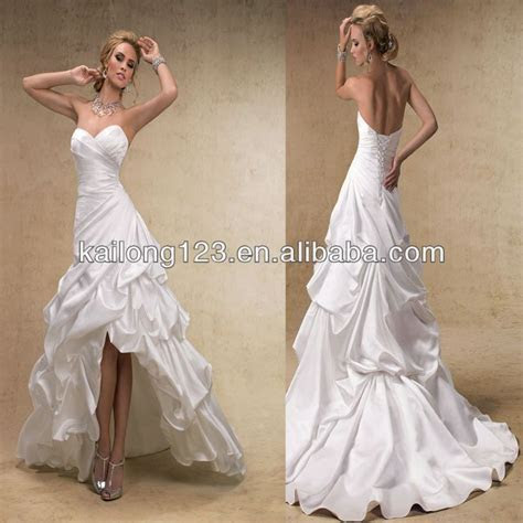 high low wedding dresses     line Corset Lace Up Back